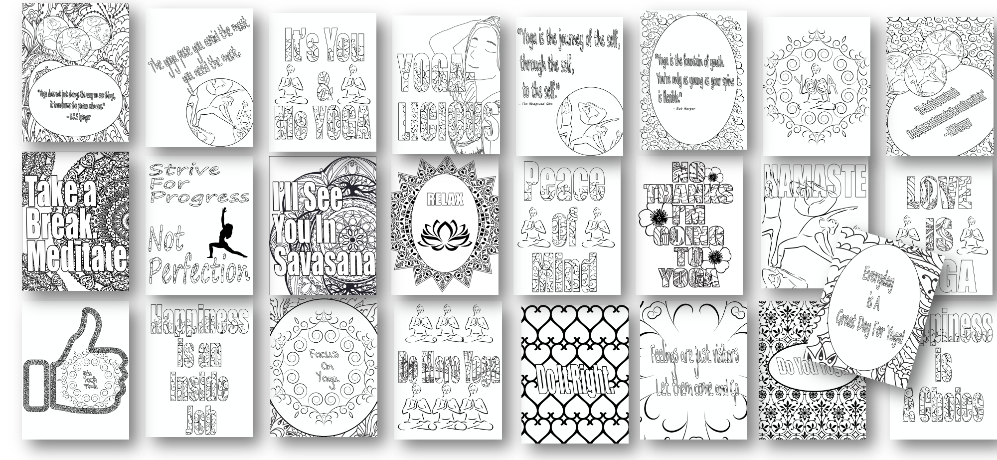 24 More Yoga Coloring Pages