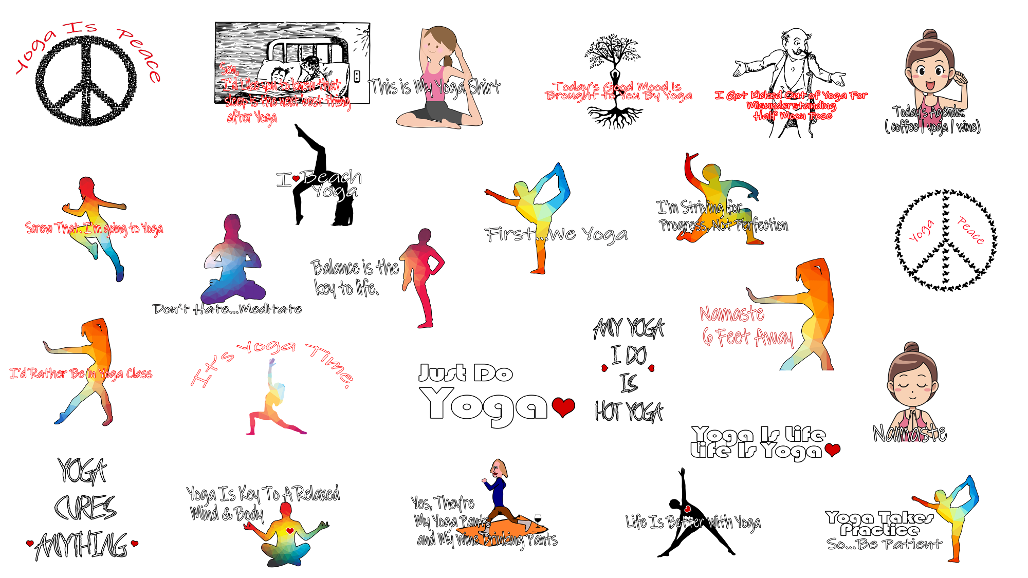 25 More Yoga Product Templates