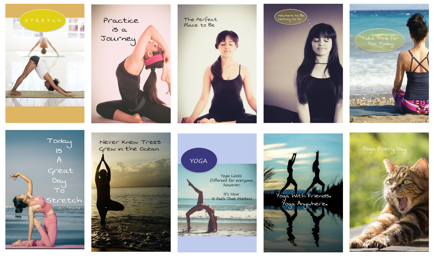 Yoga Pinterest Pins with Commercial Rights
