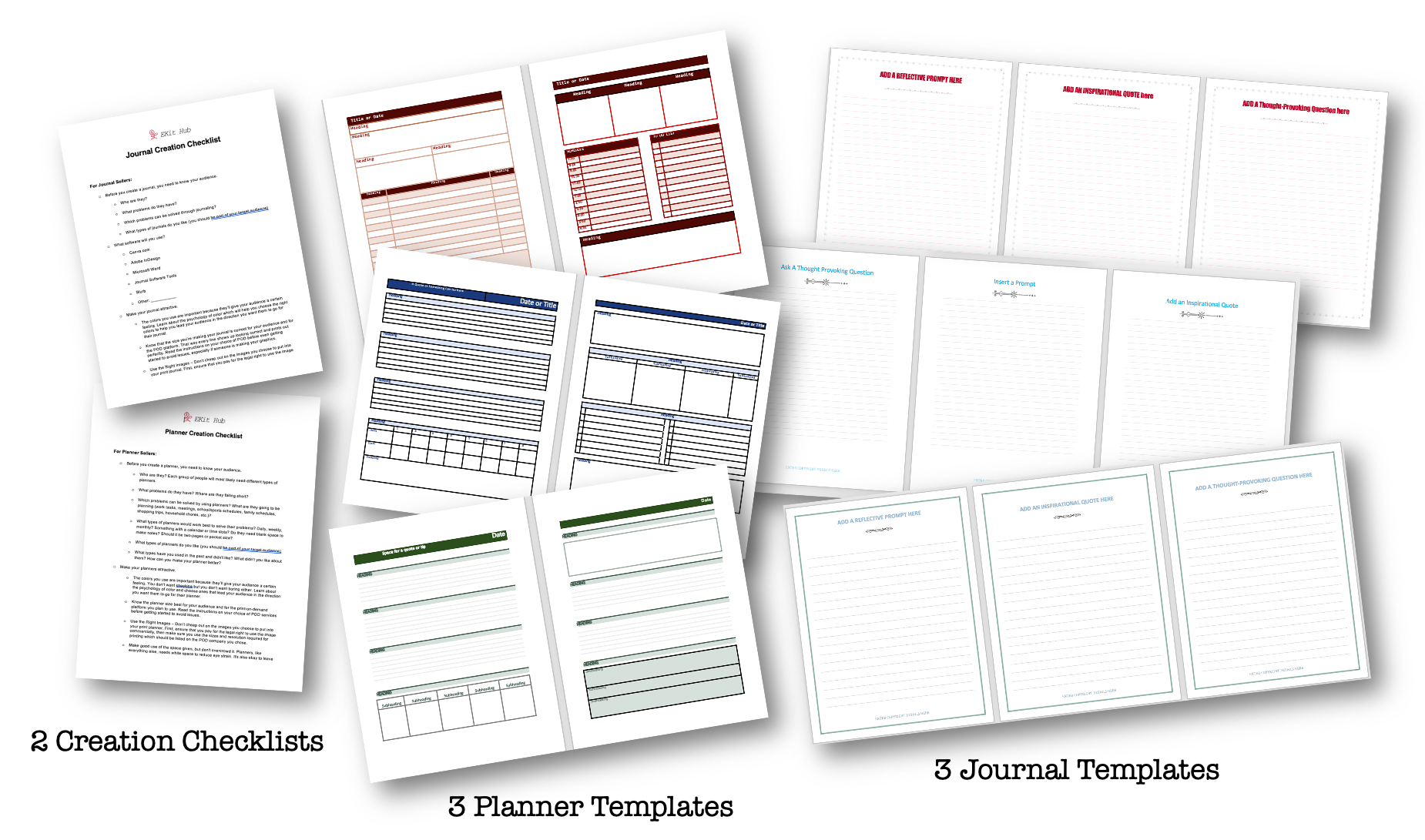 Journal and Planner Templates