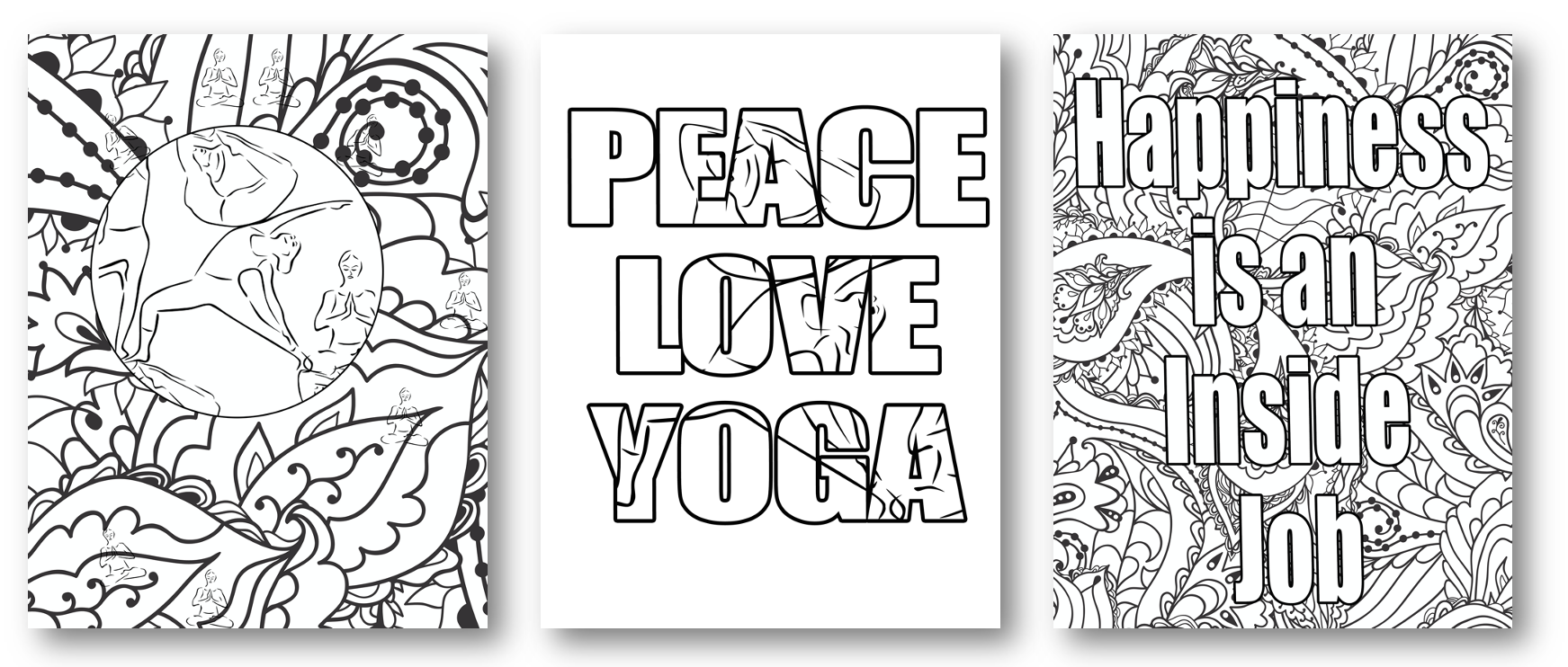 Coloring Pages from Our Yoga Ekit