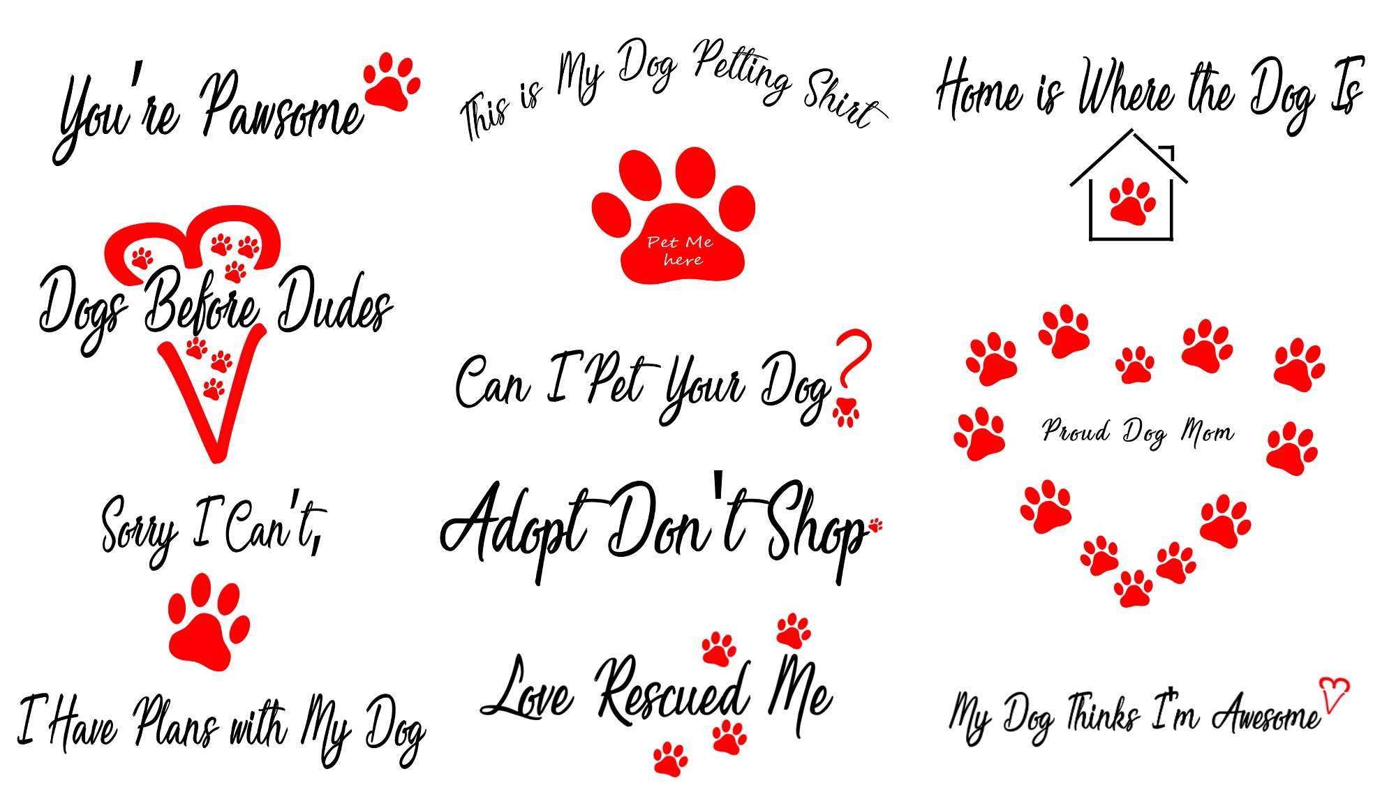 10 Dog Product Templates with Commercial Use Rights
