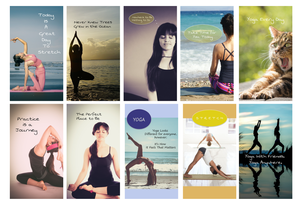 Yoga Facebook and Instagram Stories with PLR Rights