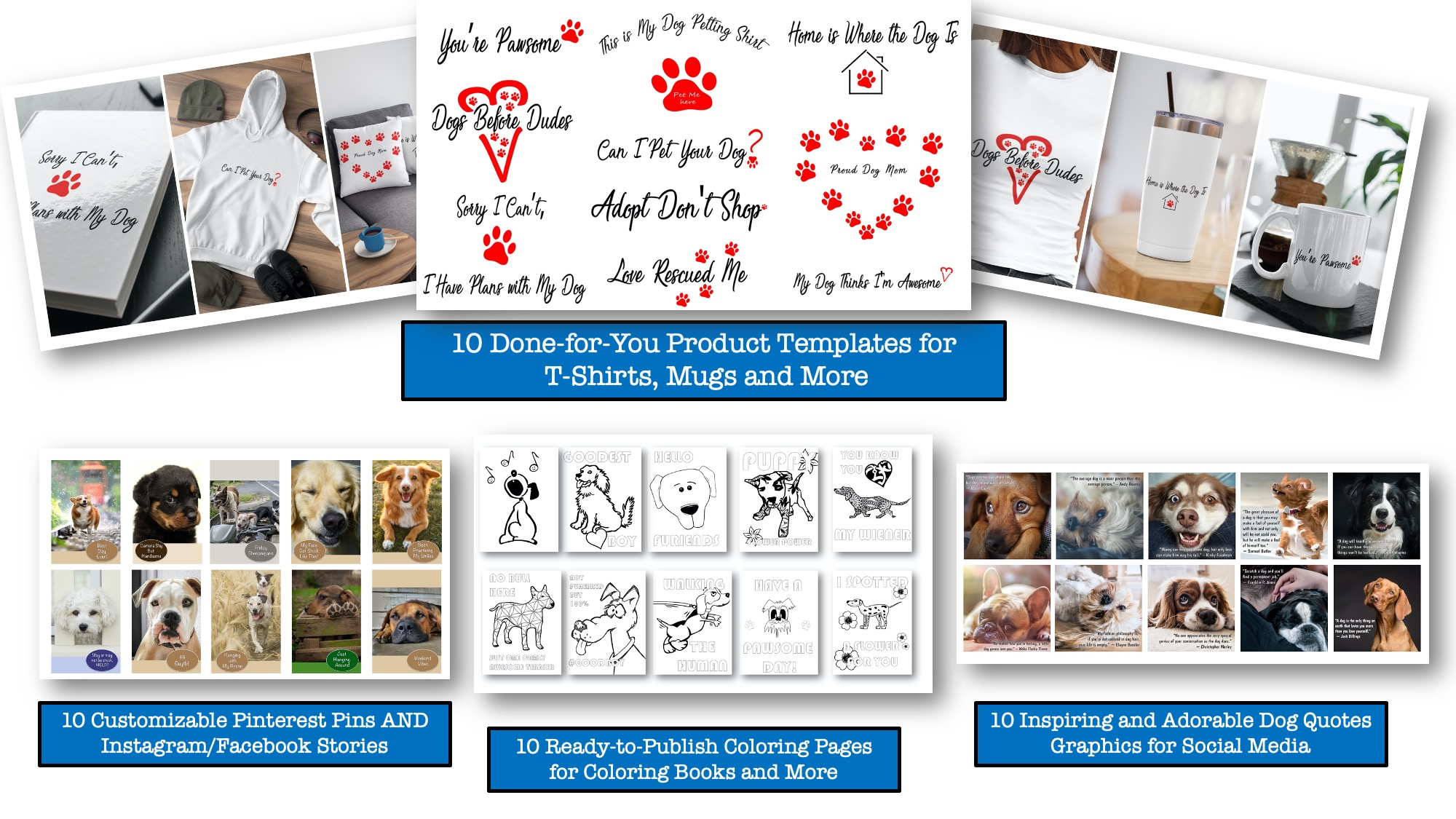 Dog Niche Product Templates with PLR