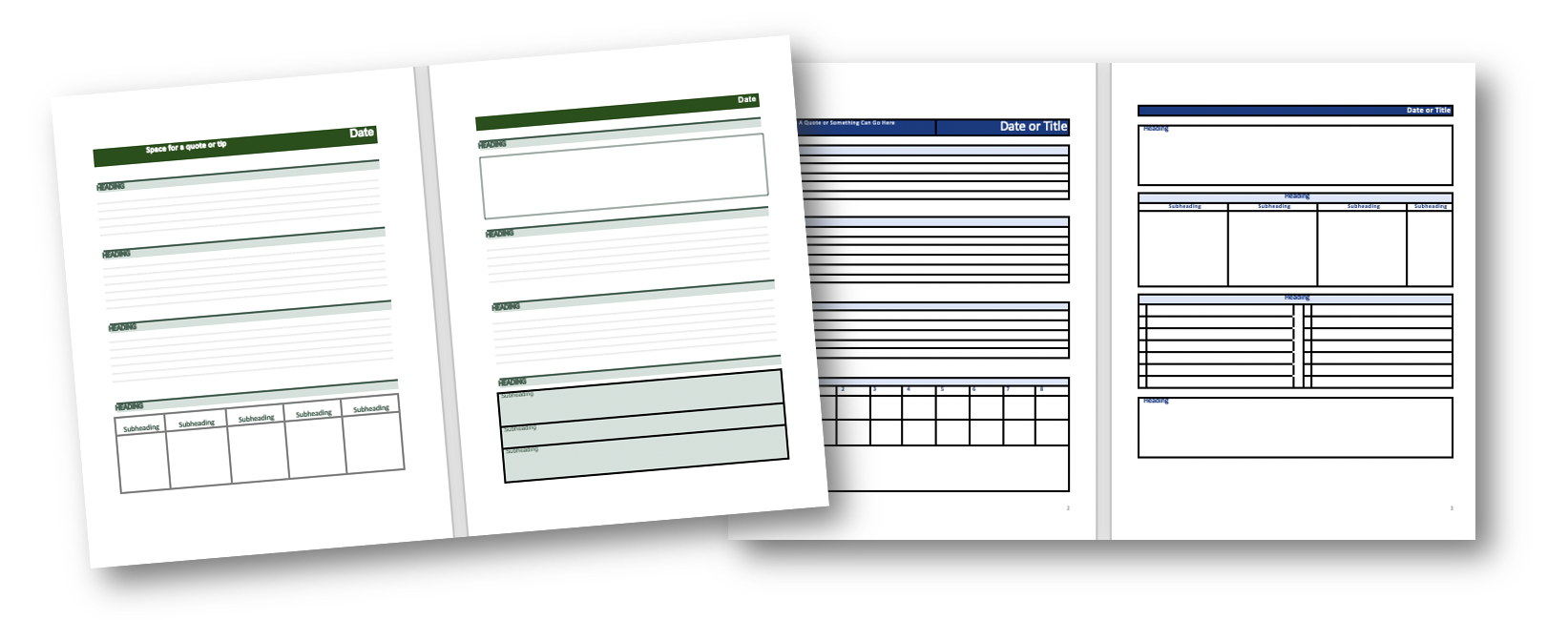 Fully Editable Planner Pages
