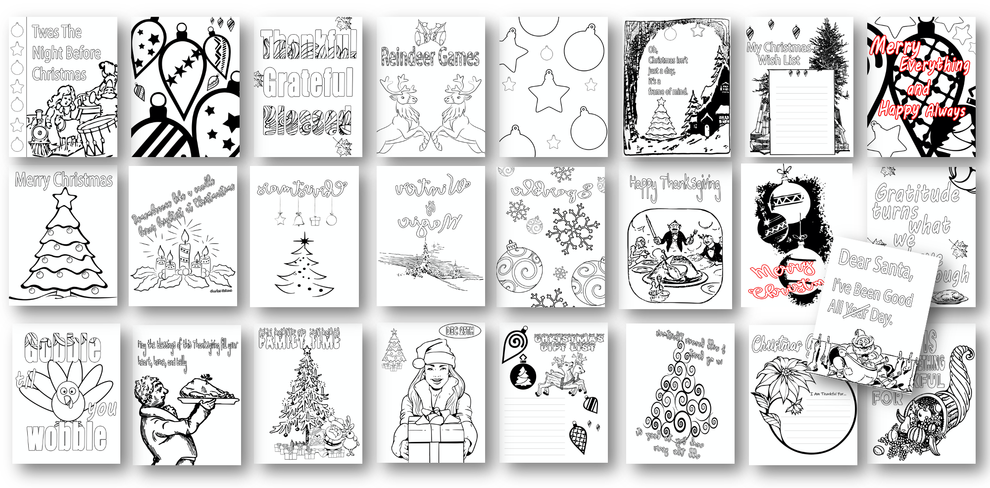 25 Holiday Coloring Pages