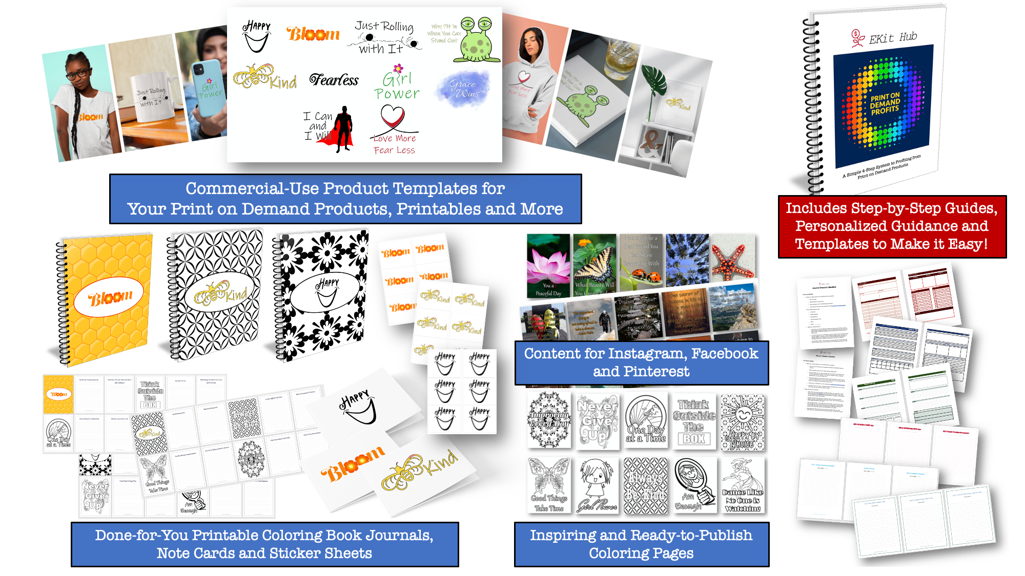 Inspiration PLR for Print on Demand Products and Printables