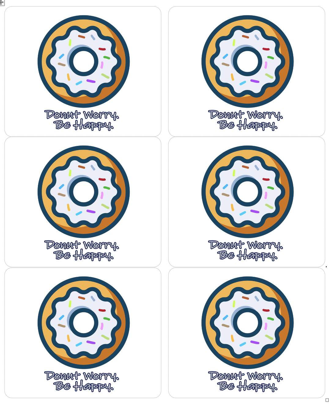 Donut Worry, Be Happy Stickers