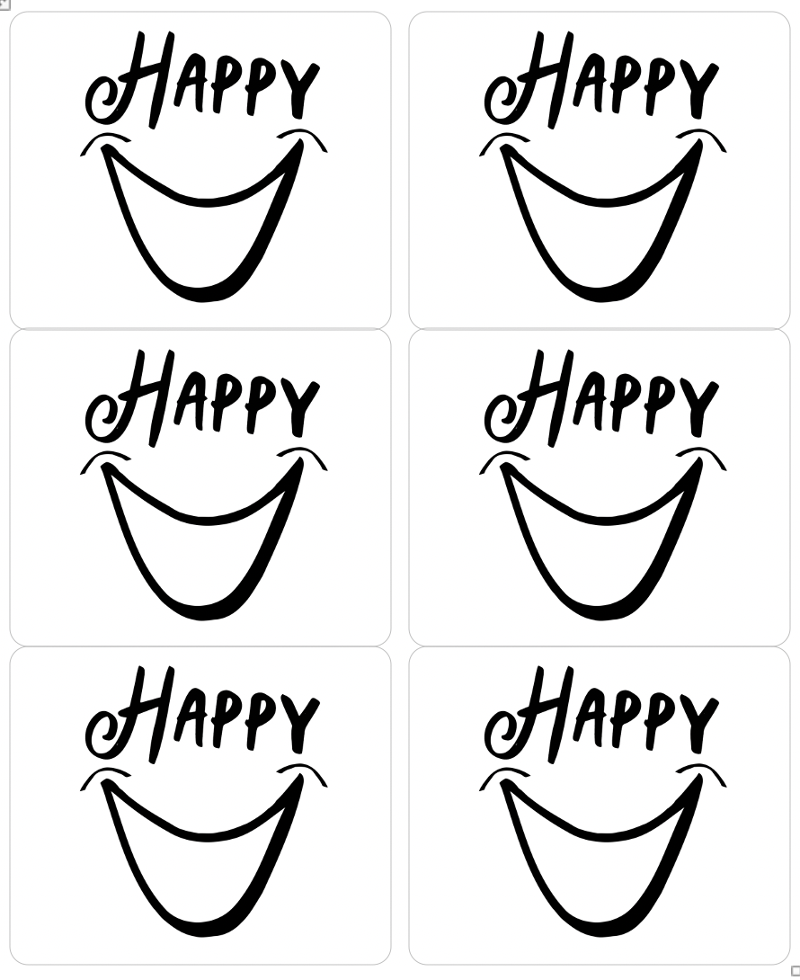 Happy Sticker Sheet