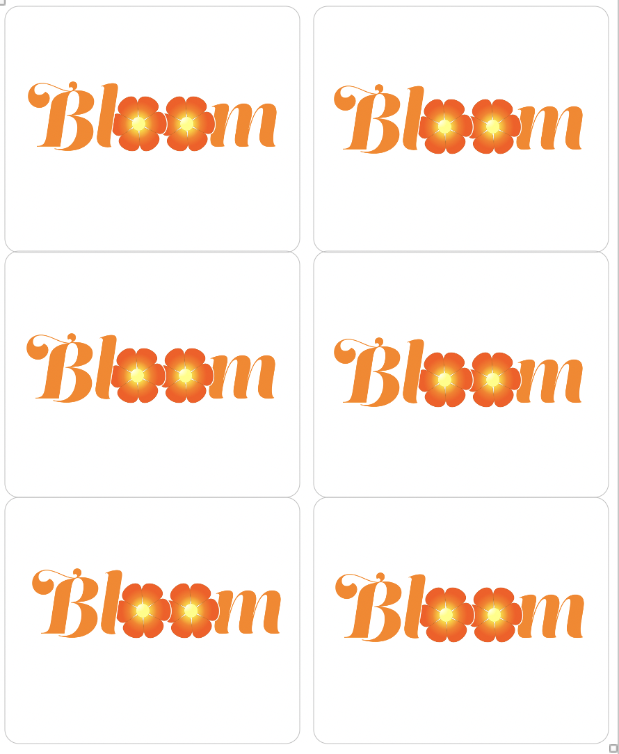 Bloom Sticker Sheet