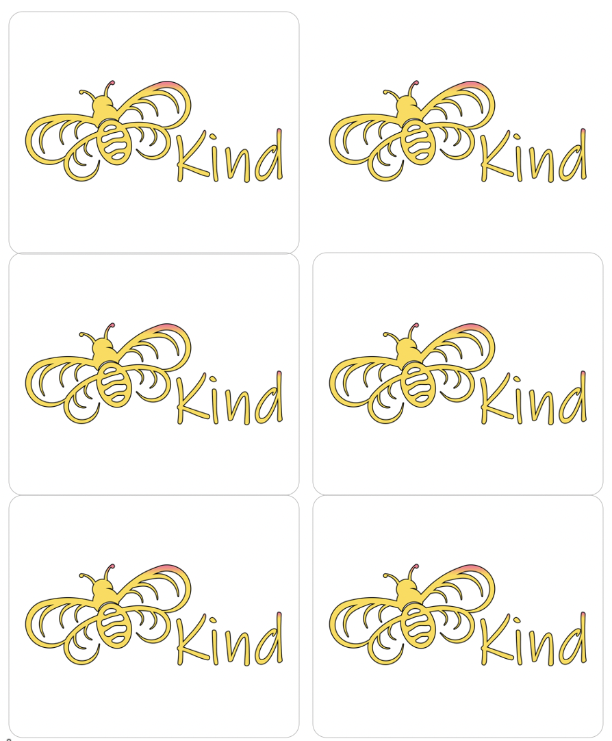Be Kind Sticker Sheet