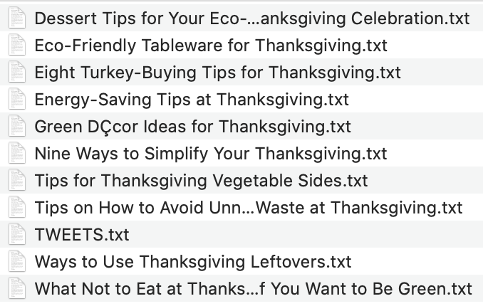 Thanksgiving for Busy People Articles