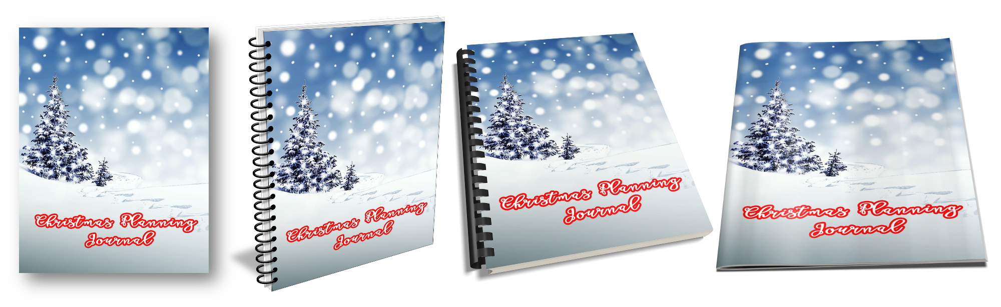 Christmas Journal Ecovers with PLR Rights