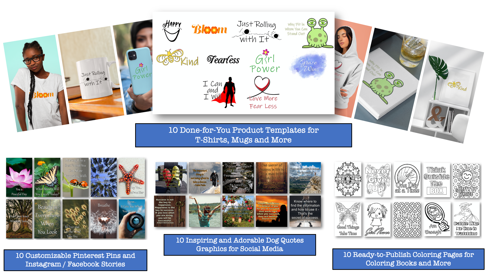 Inspiration Niche Product Templates, Coloring Pages and More