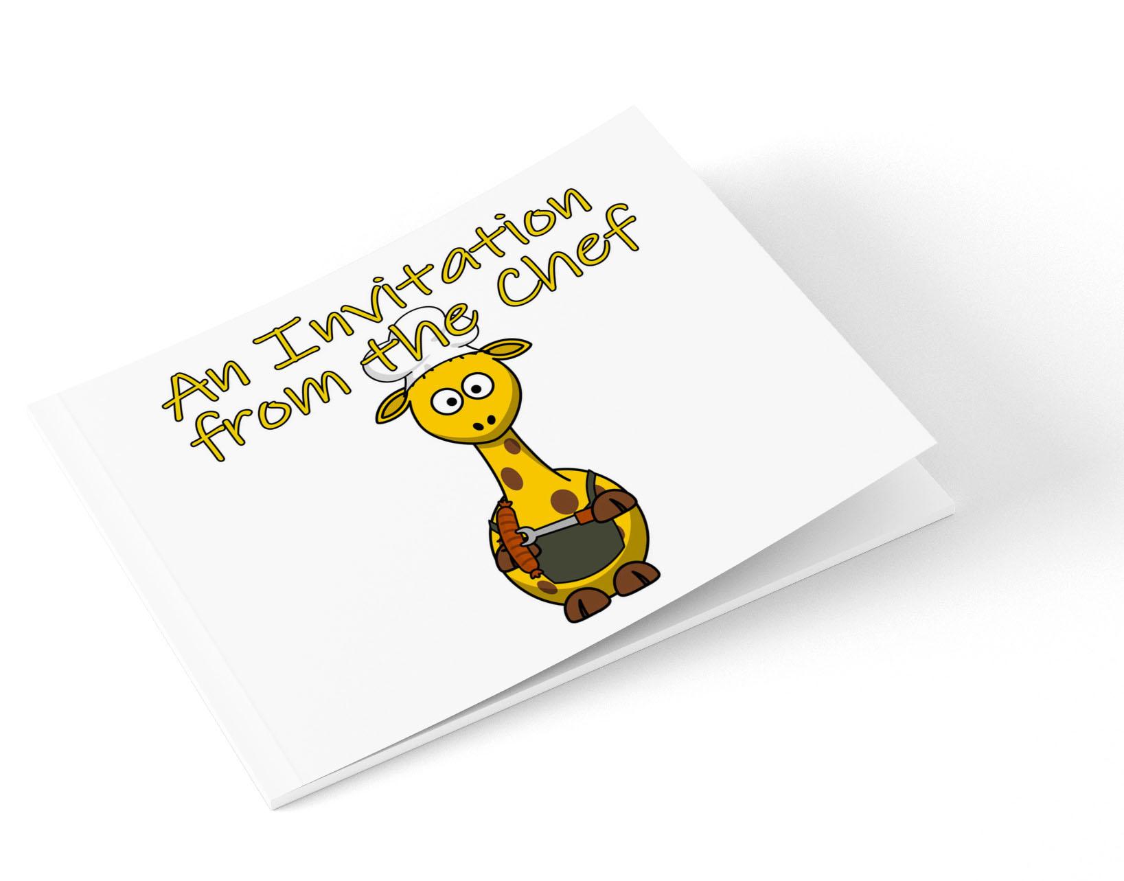 Head Chef Invitation Note Card