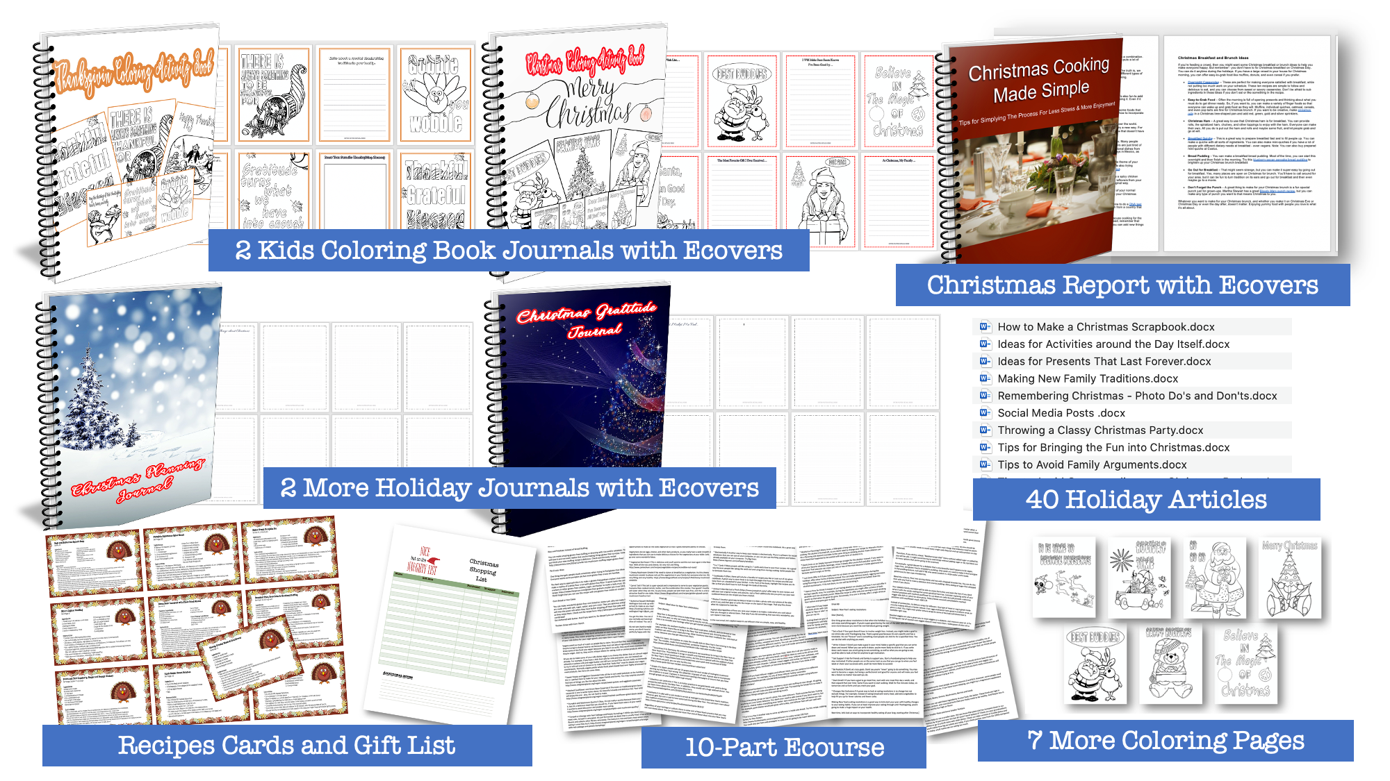 More Holiday, Christmas and Thanksgiving Printables with PLR Rights