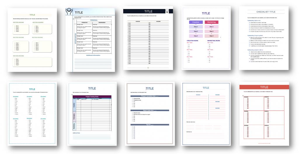 Checklist Templates