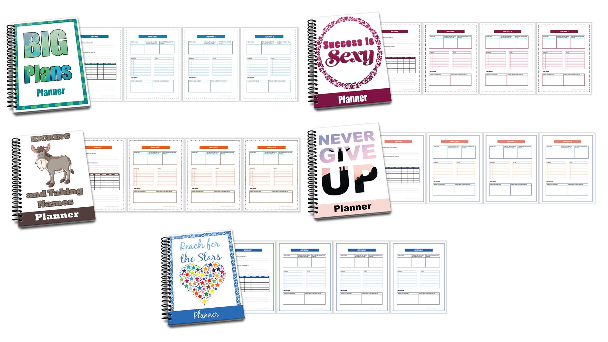 PLR Goal Setting Planners