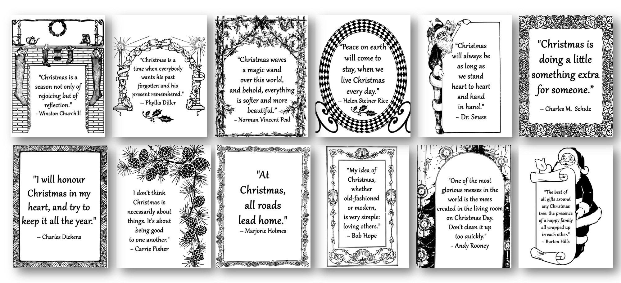 Christmas Quotes Coloring Pages