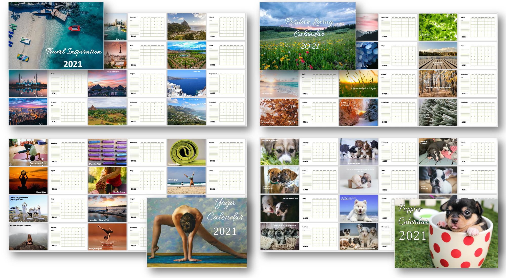 Peek Inside the Calendars with PLR Rights