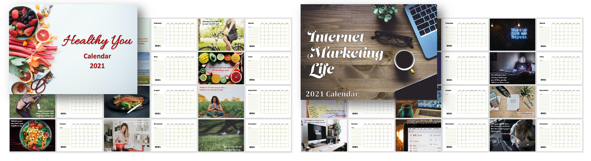 Beautiful Calendars with PLR Rights