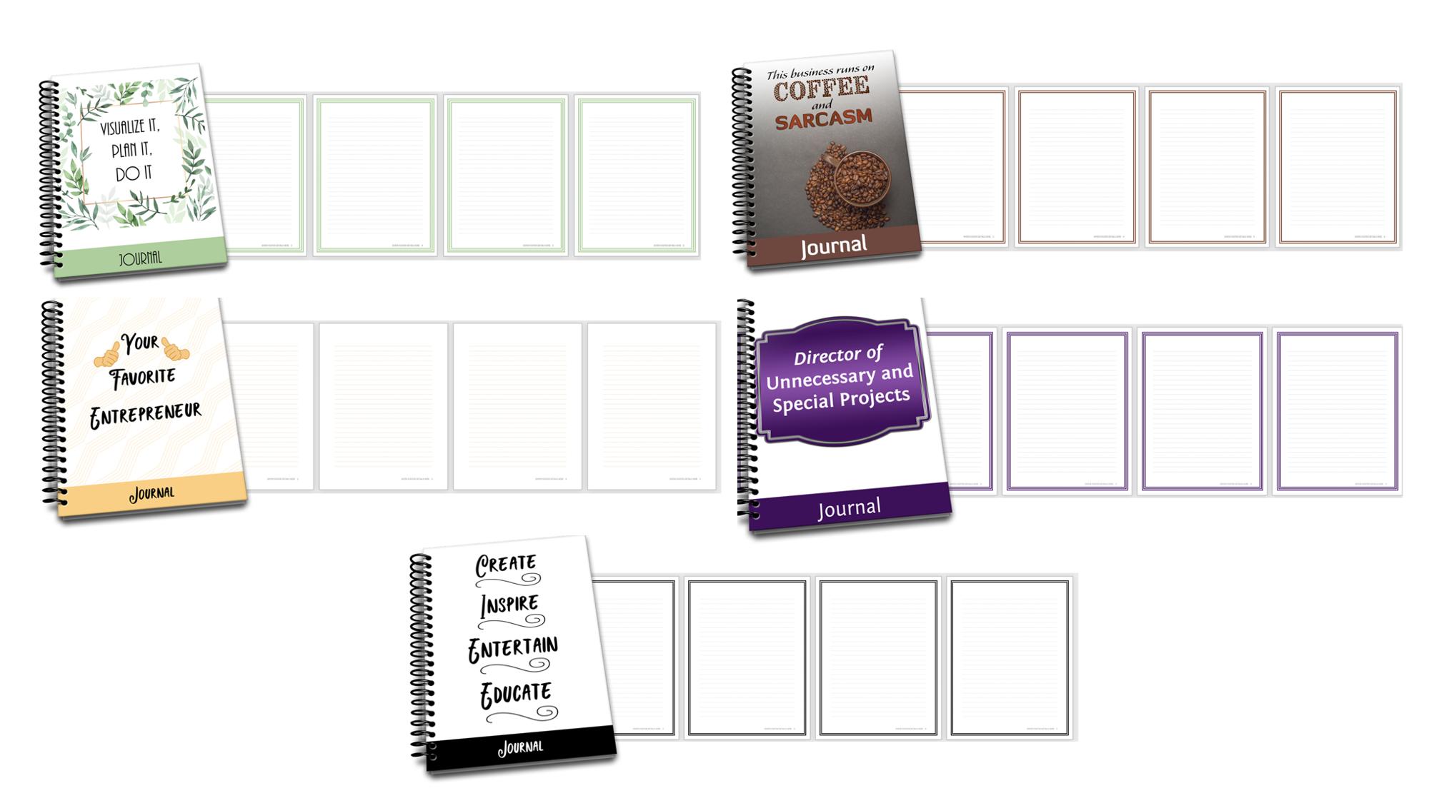 PLR Journals for Marketers and Entrepreneurs