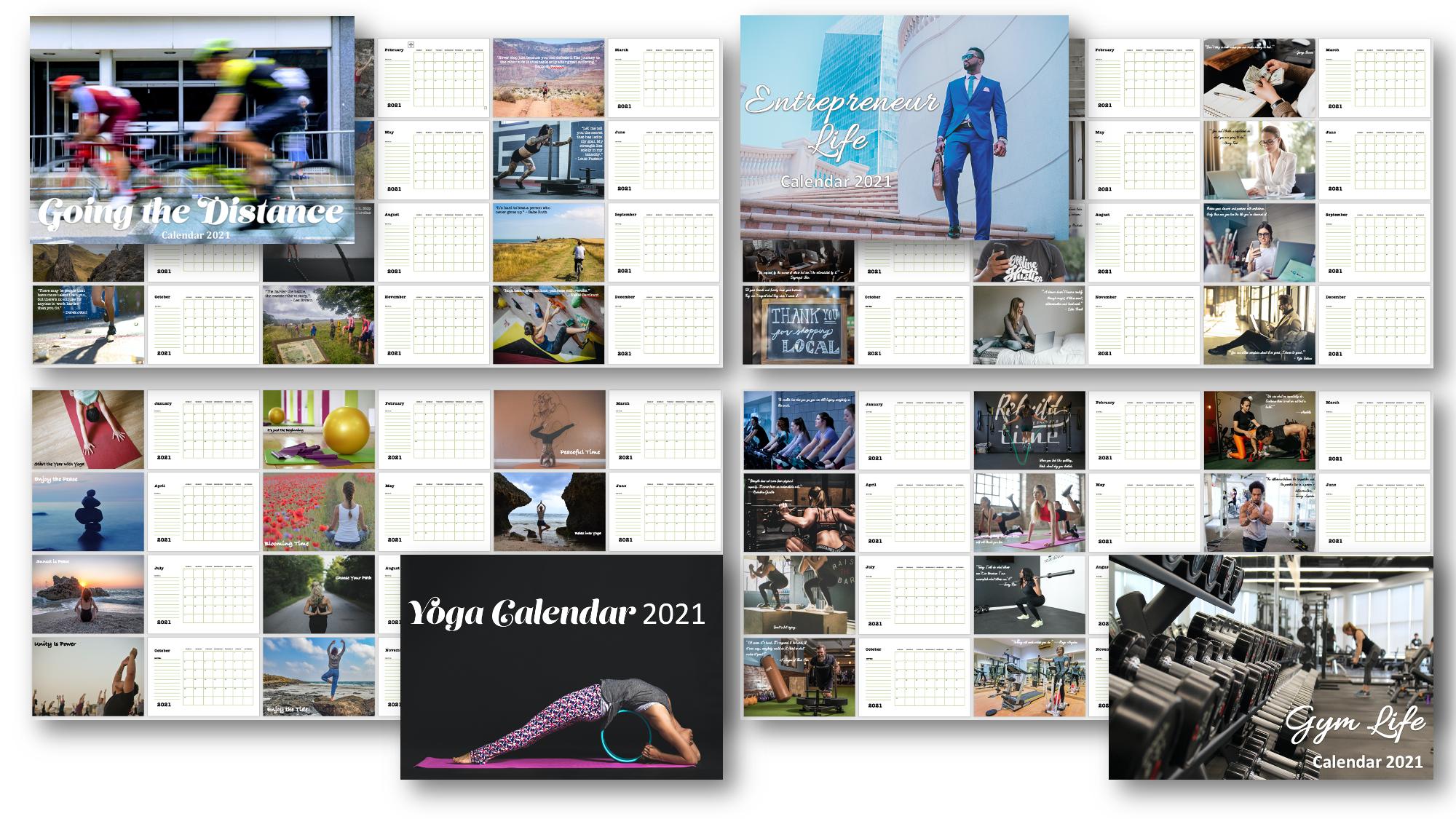 Printable PLR Calendars 2021