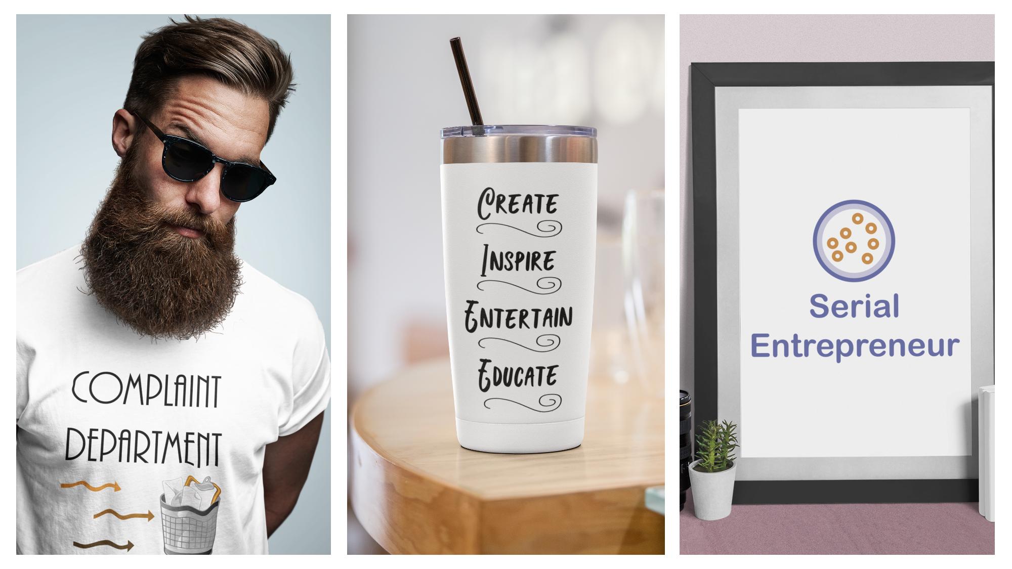 POD templates to make t-shirts, mugs, wall art and more