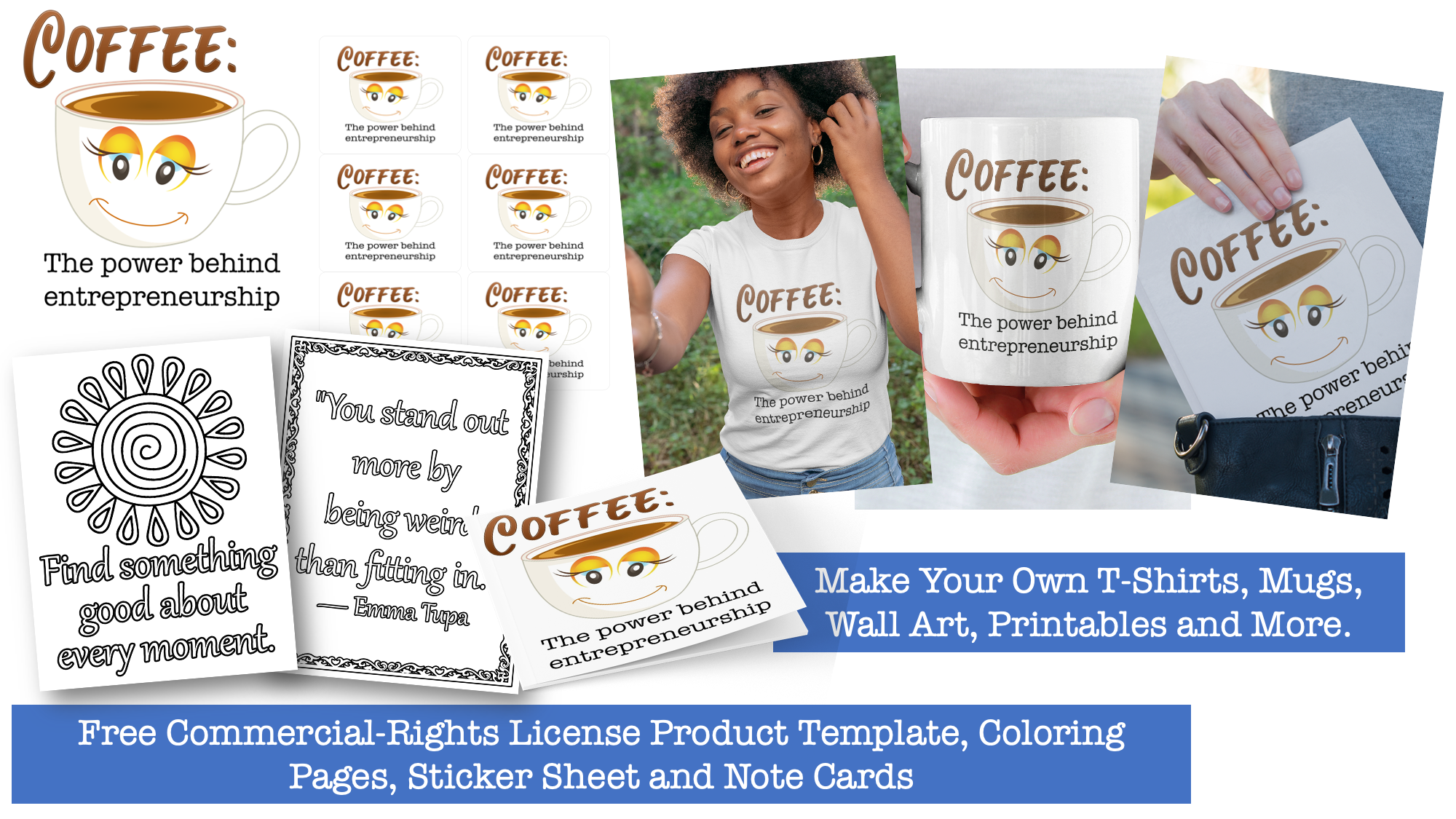 Free Product Templates and Coloring Pages with PLR Rights