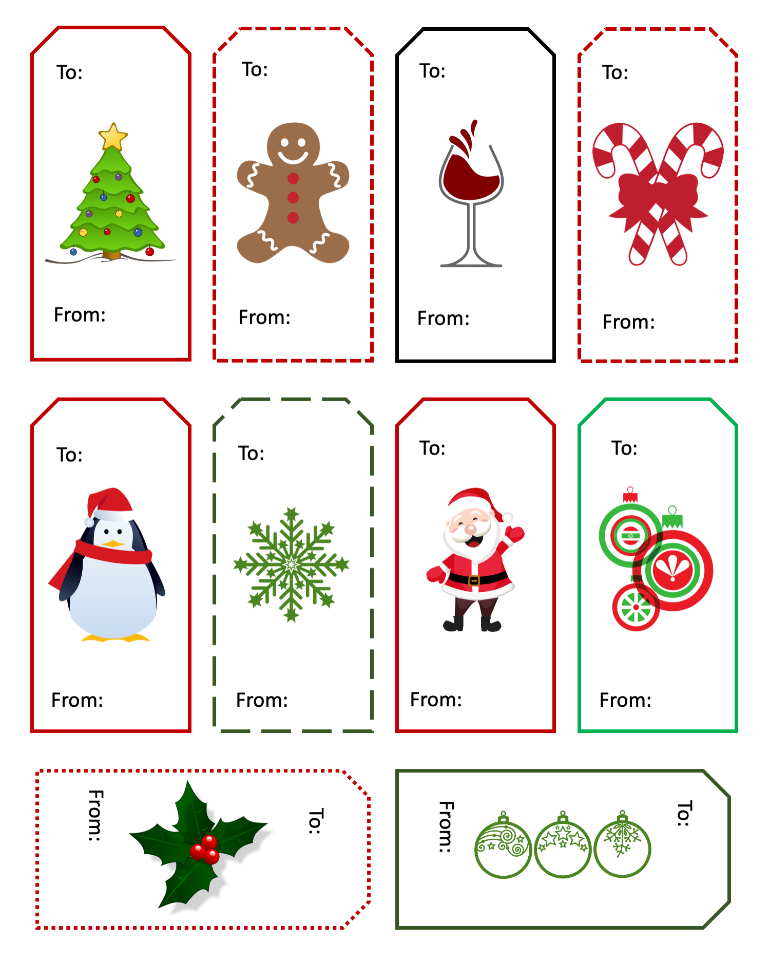Christmas Gift Tags with PLR Rights