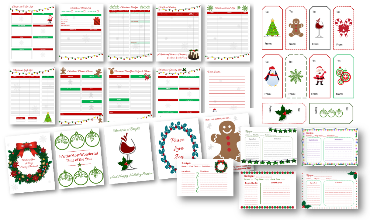 Christmas Printables with PLR Rights