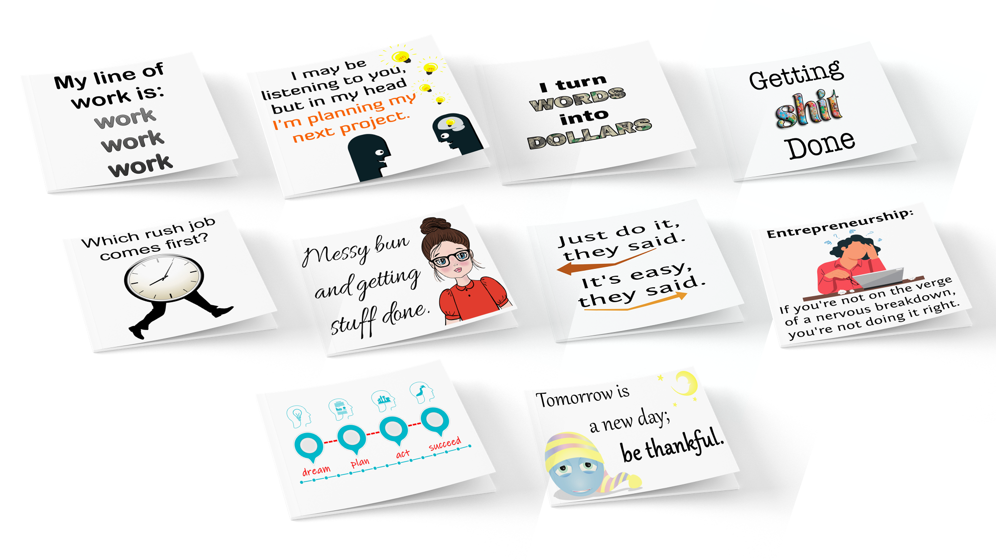 Fun Note Cards for Entreprenuers