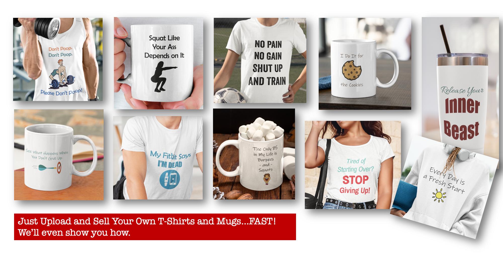 Make Instant Tshirts and Mugs