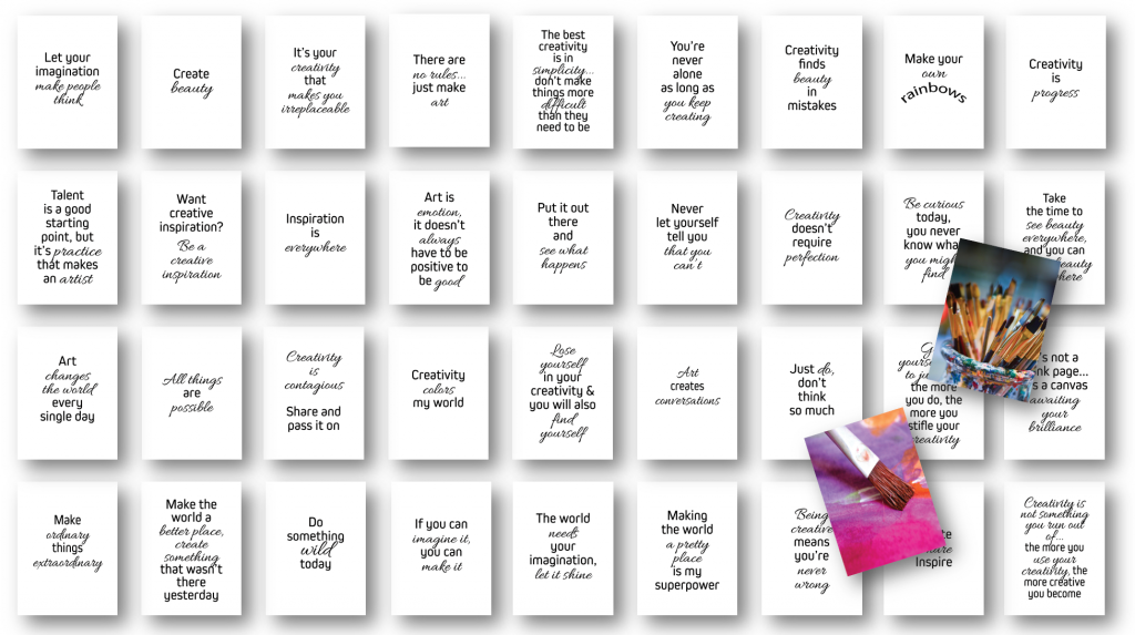 "36-Card ""Unleash Your Creativity"" Deck"