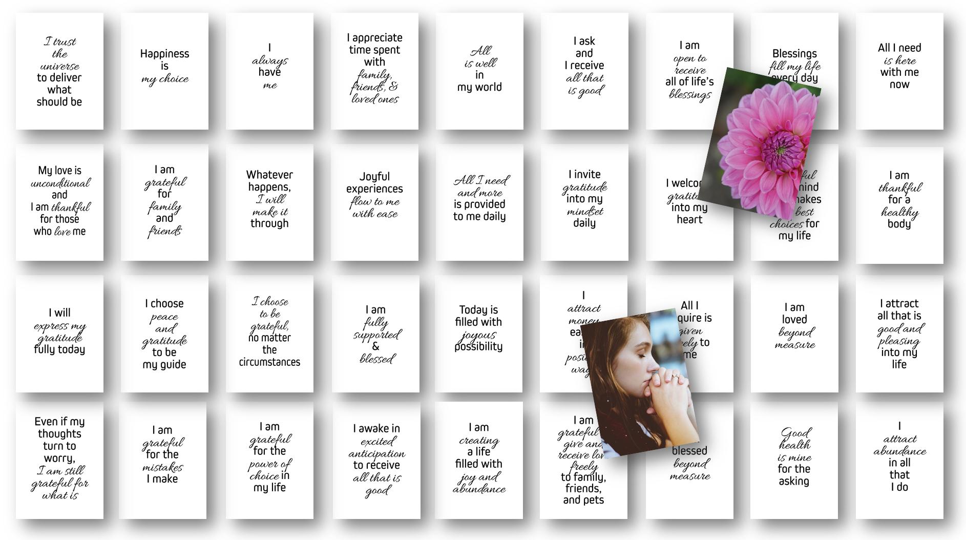 Health Affirmations Card Deck