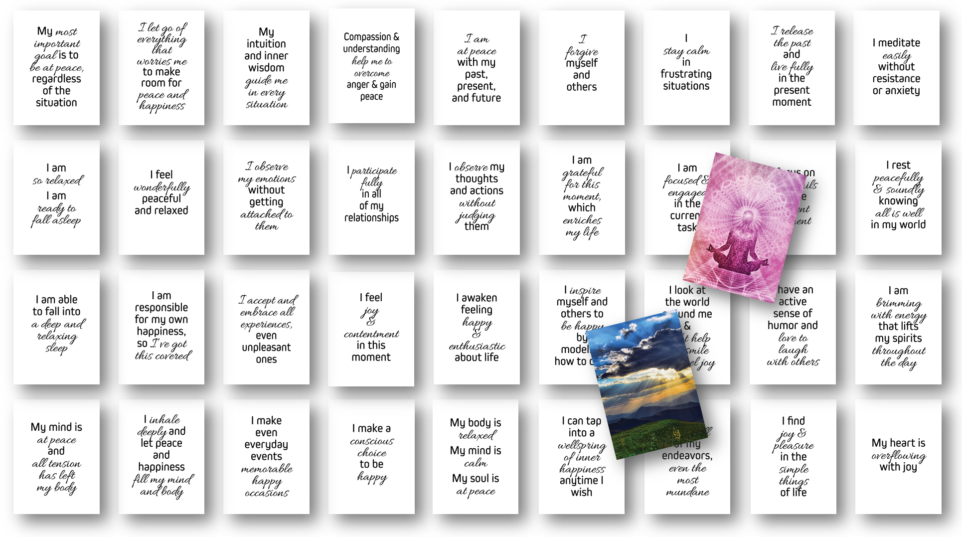 Peace and Happiness Affirmations Card Decks