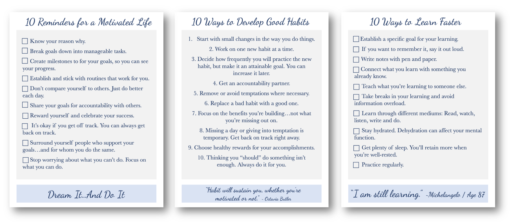 Checklist Printables