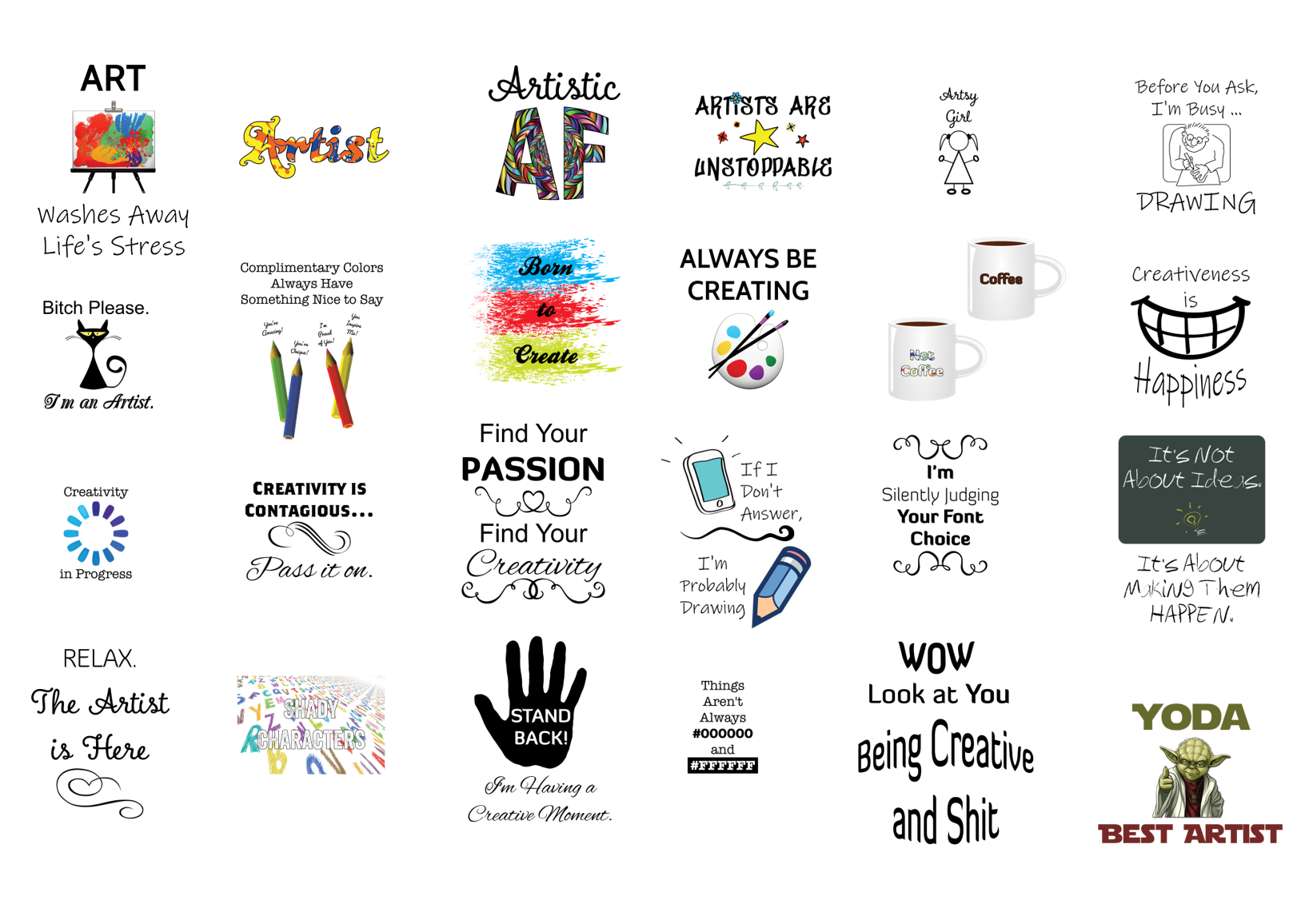 Creativity product templates