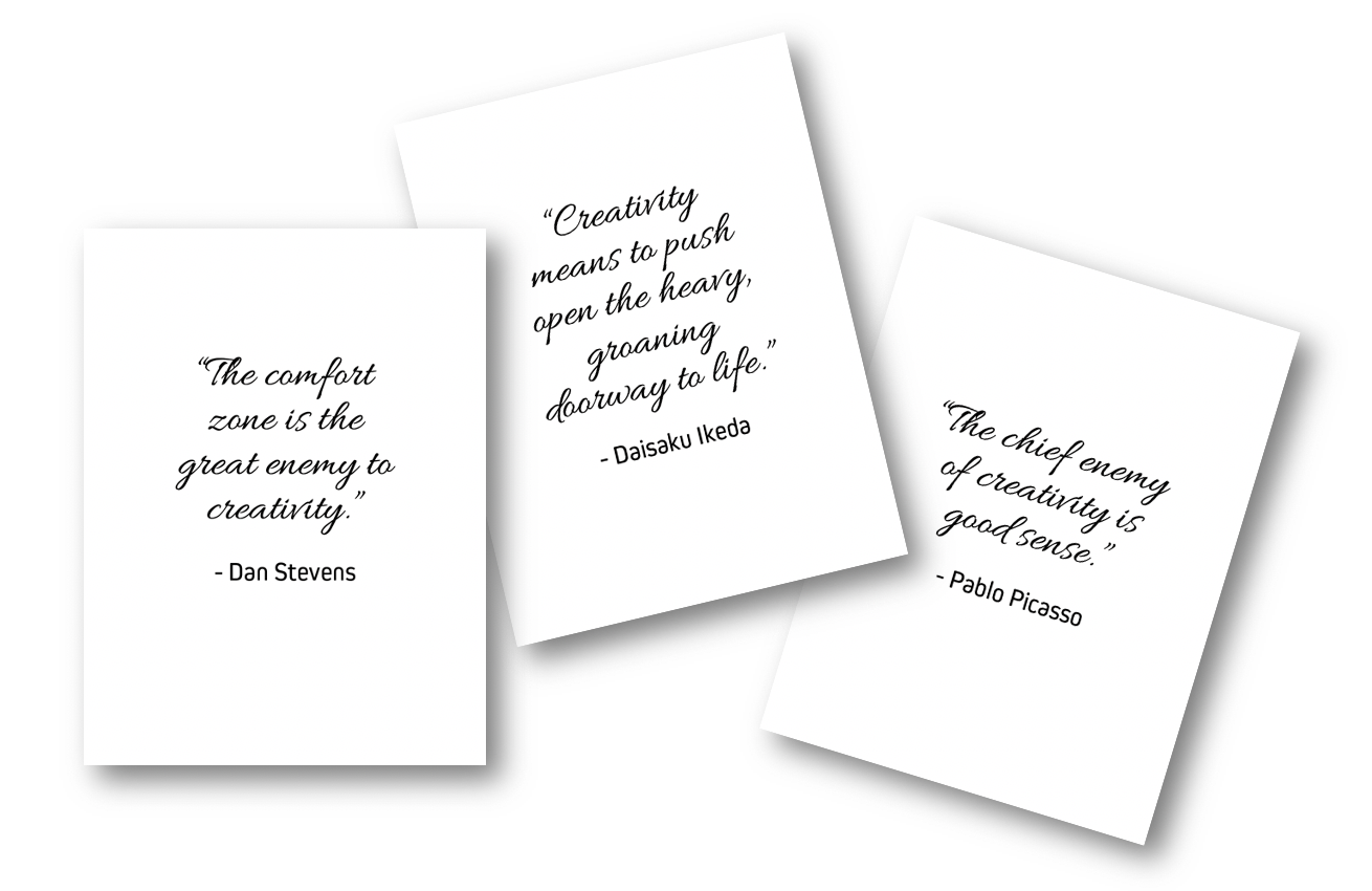 3 Free Creativity Quotes Cards