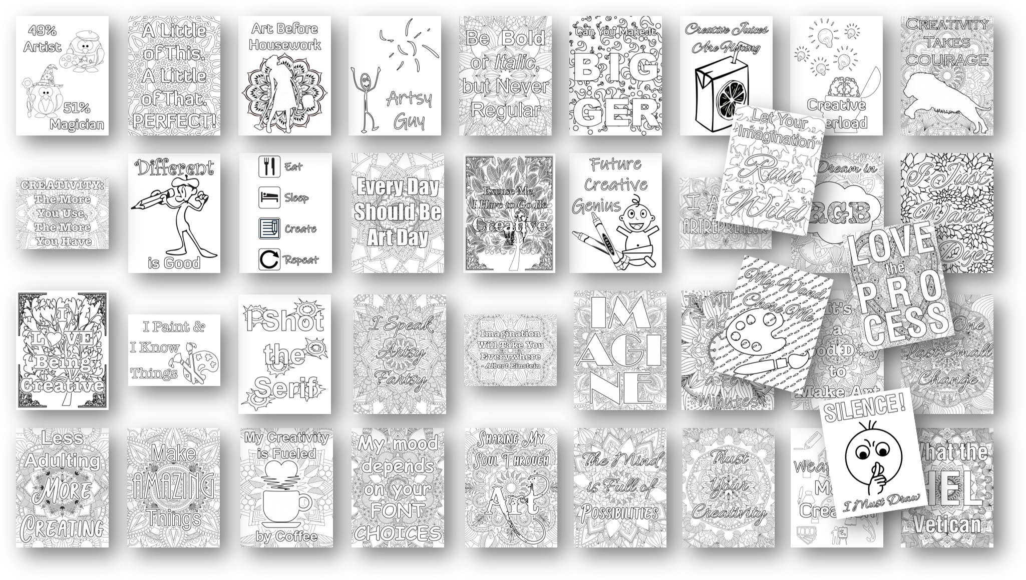creativity 40 coloring pages