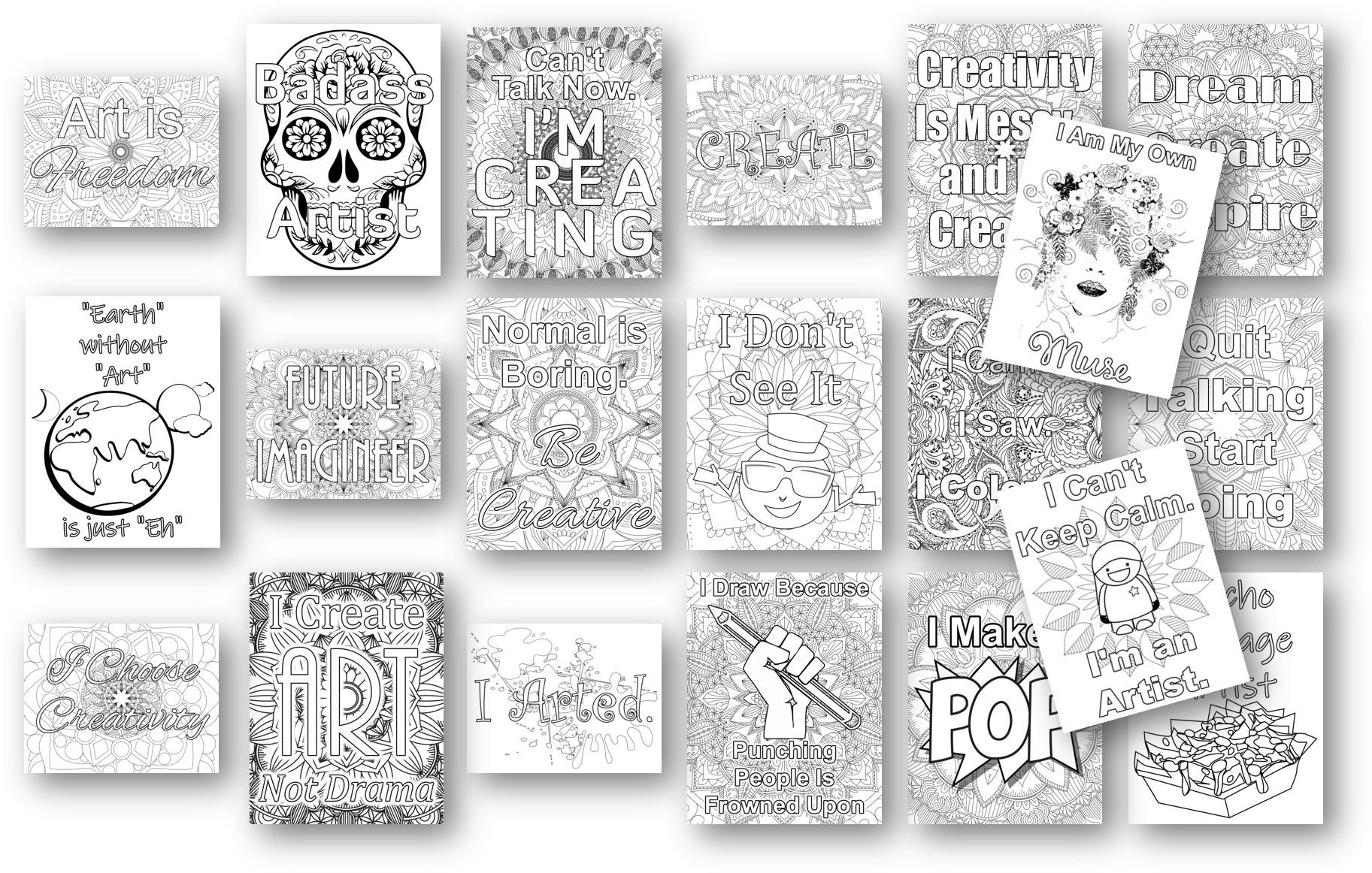 creativity coloring pages