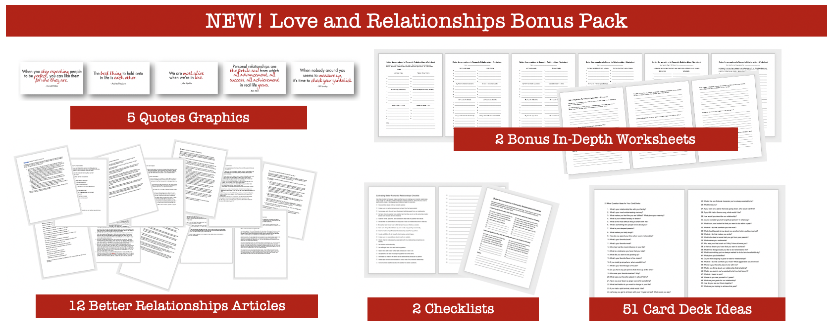Love and Relationships Bonus Pack