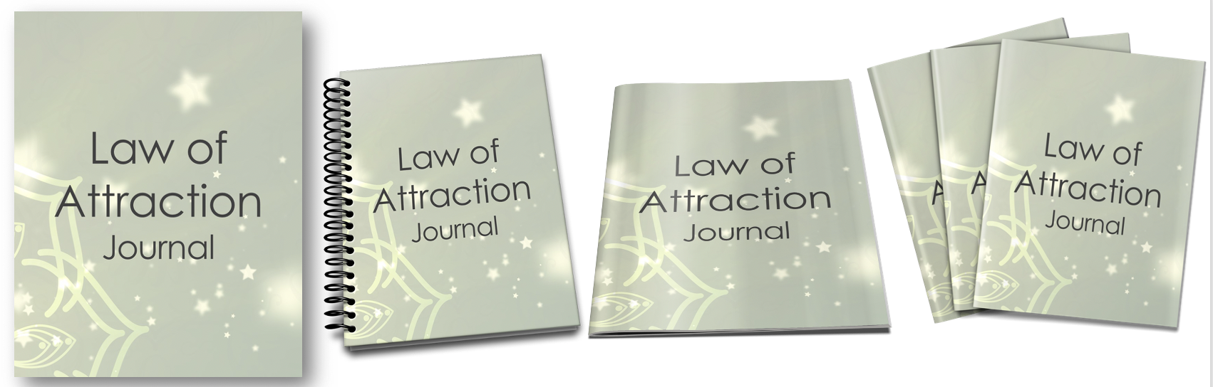 Law of Attraction Journal Covers