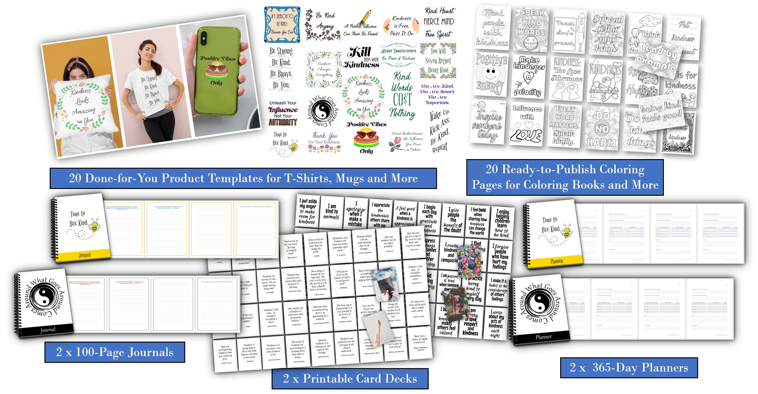 The Power of Kindness Templates Pack