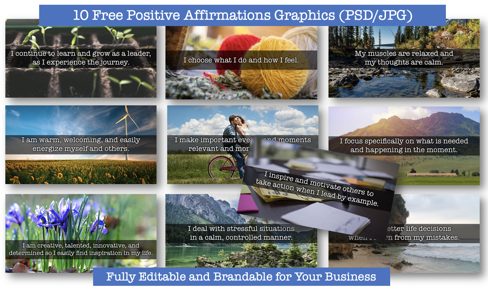Free Positive Affirmations Graphics with PLR Rights