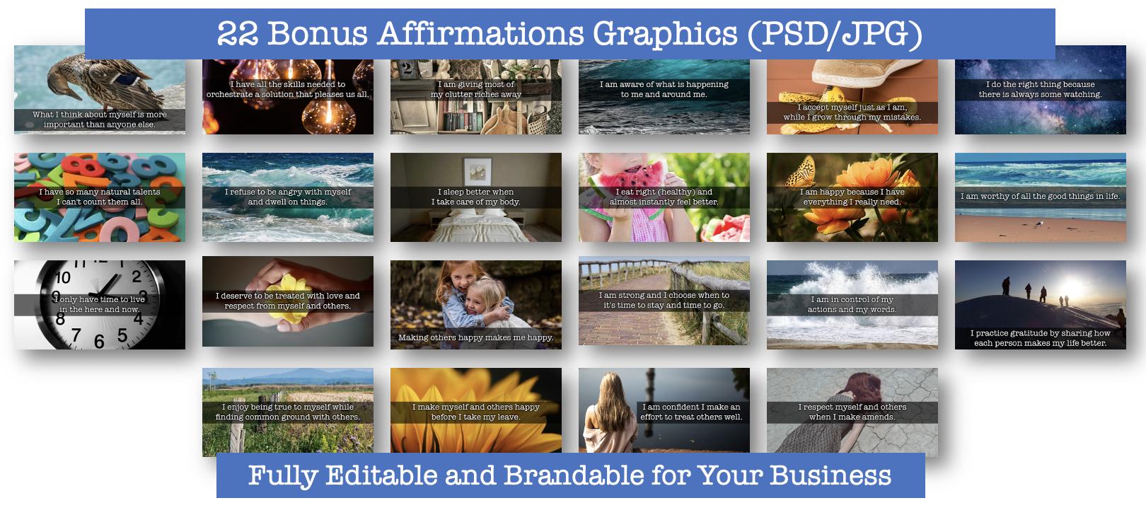 22 Bonus Affirmations Graphics