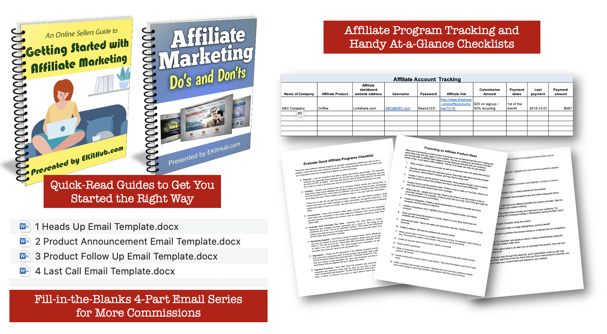 Affiliate Marketing Guides + Templates
