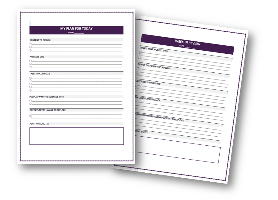 Content Management Planner Pages