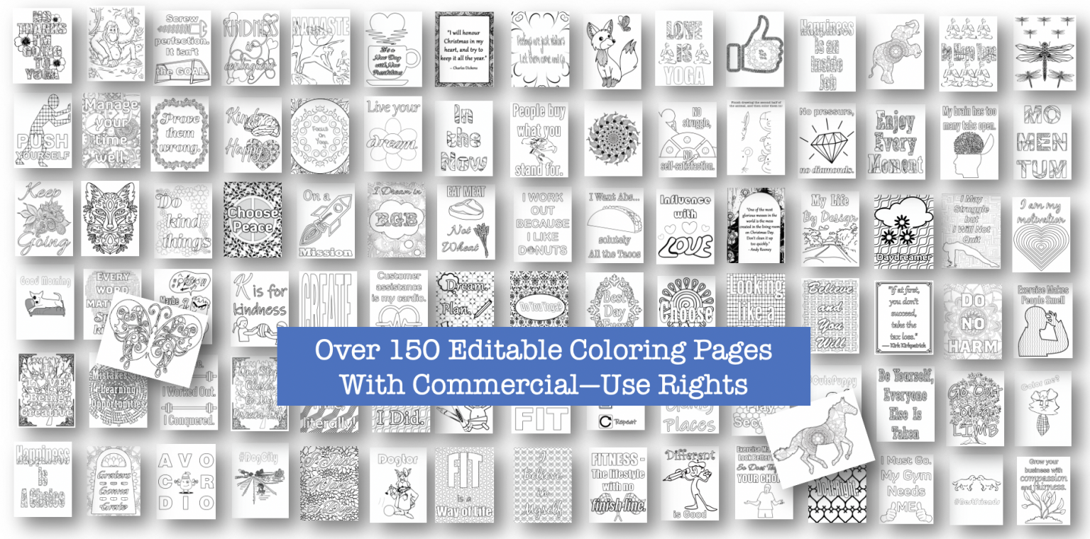 154 Editable Coloring Pages