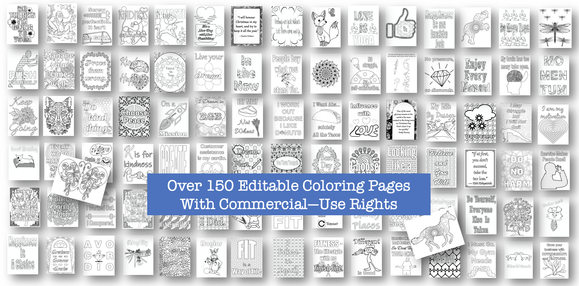 154 Coloring Pages with Commercial Use Rights